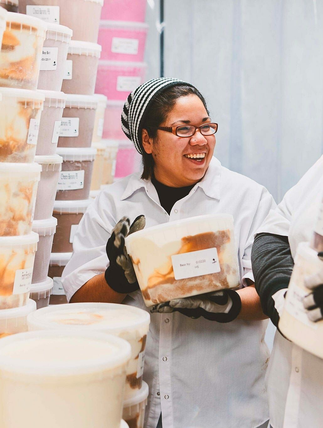 Humphry Slocombe employee making ice cream