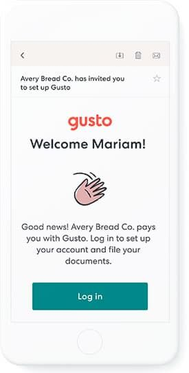 gusto onboarding email