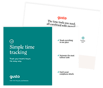 Gusto time tracking features
