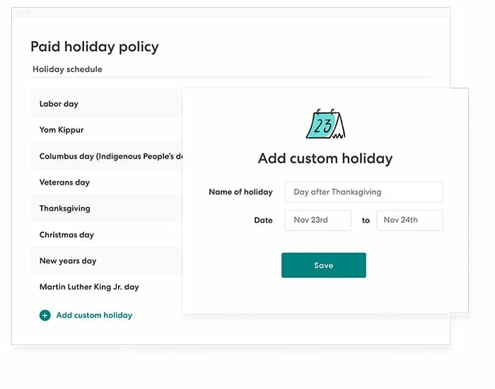 Gusto holiday pay policy