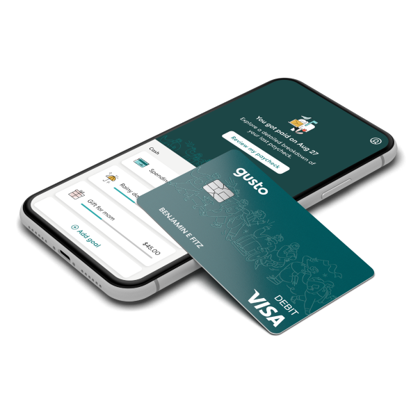 Gusto Wallet on cellphone